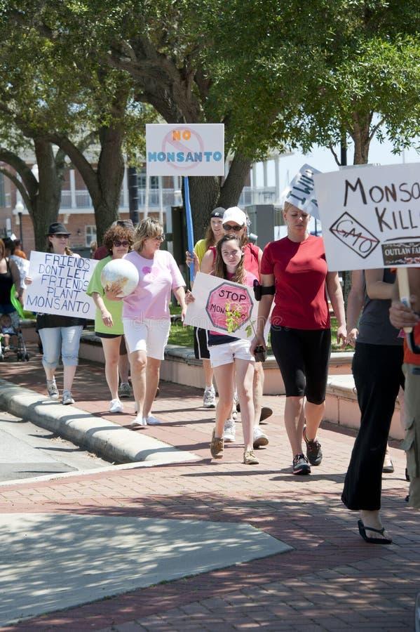 Protesta mundial contra Monsanto y los GMOs foto de archivo libre de regalías