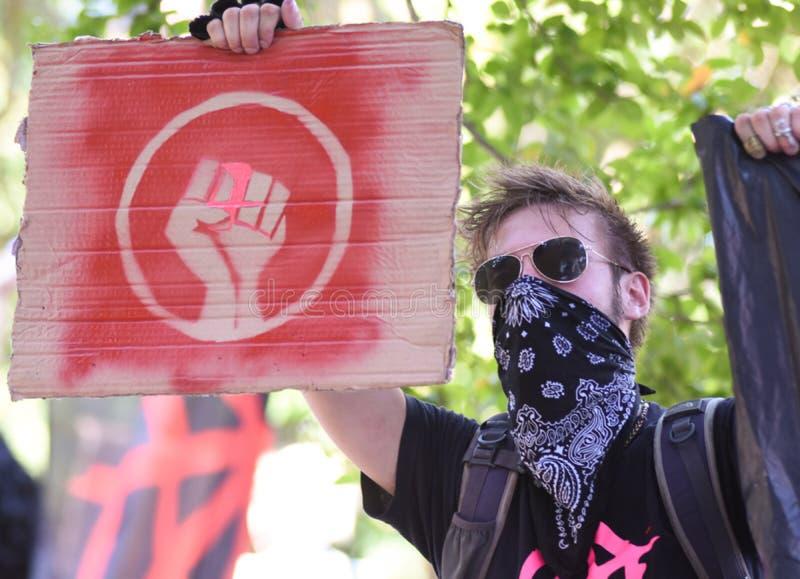 Protesta negra de la materia de las vidas fotografía de archivo libre de regalías