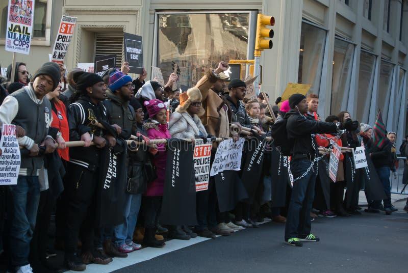 Protesta nera della materia di vite immagini stock libere da diritti