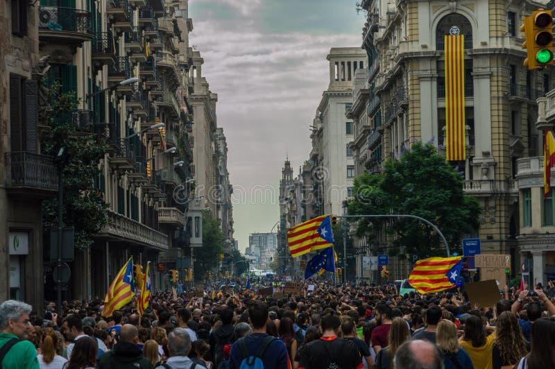 Protesta pacifica, Barcellona immagini stock libere da diritti