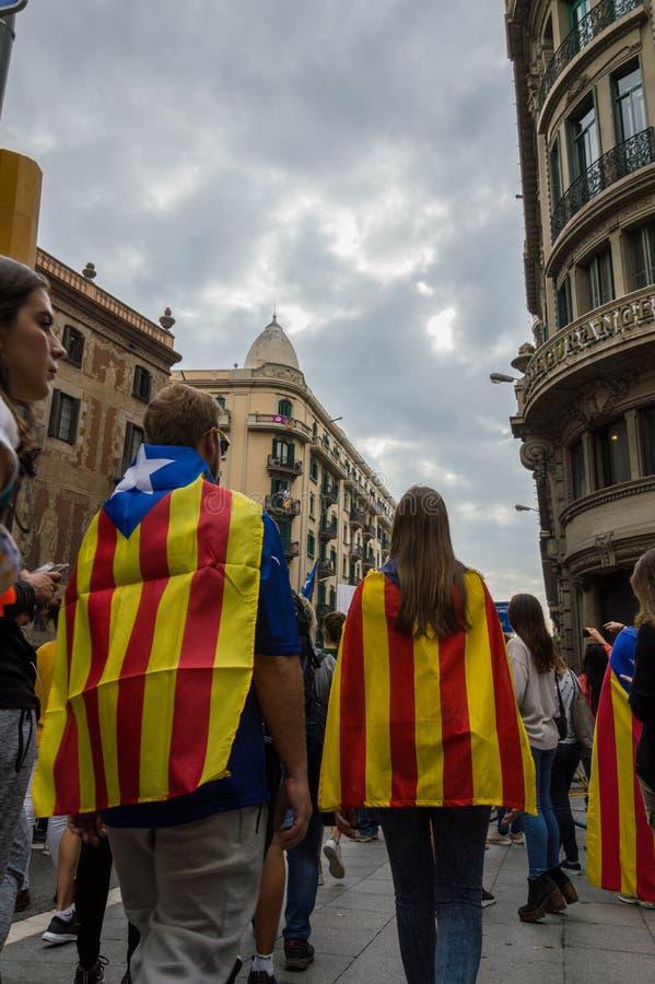 Protesta pacifica, Barcellona immagine stock libera da diritti