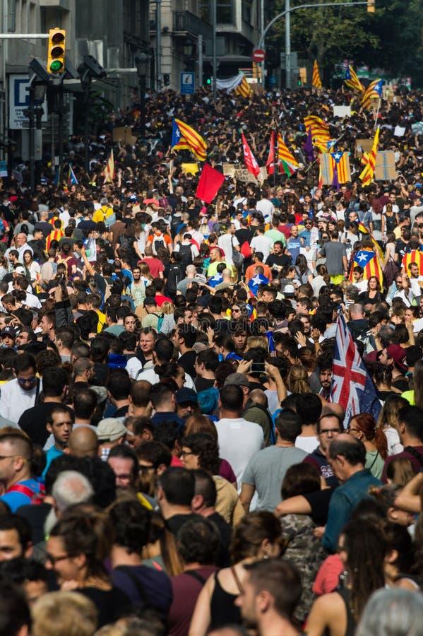 Protesta pacifica, Barcellona immagine stock