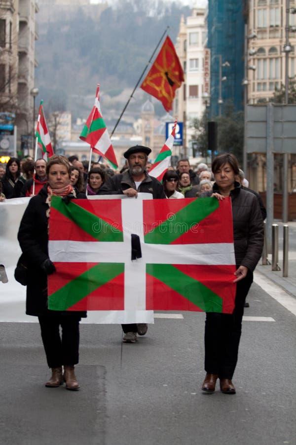 Protesta para el desaparition de Jon Anza imagenes de archivo
