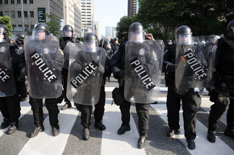 Protesta a Toronto. fotografia stock
