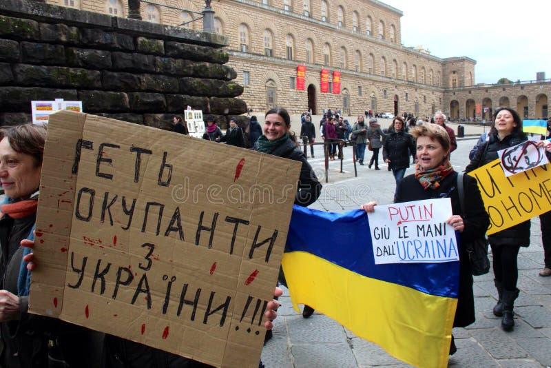 Protesta ucraniana de la comunidad contra Putin imagen de archivo libre de regalías