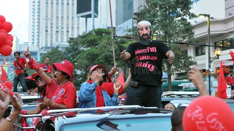 protestacyjna czerwona koszula zdjęcie stock