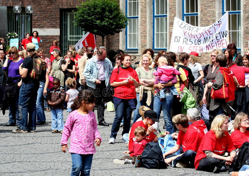 protestacyjny di ver obrazy stock
