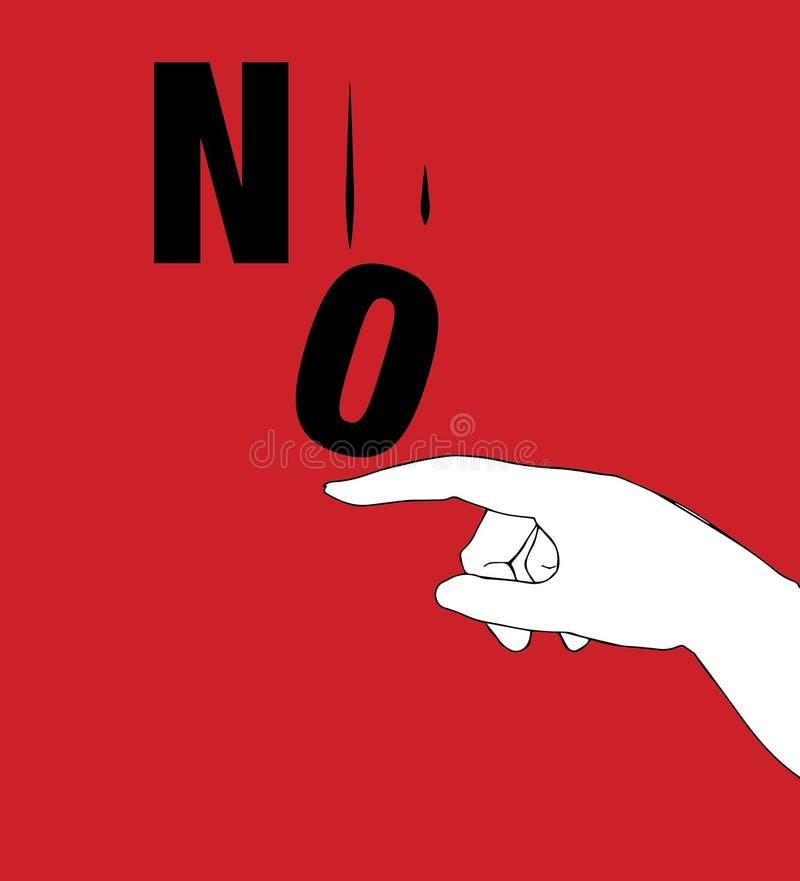 Protestacyjny plakat dla Żadny ilustracja wektor