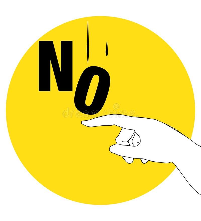 Protestacyjny plakat dla Żadny ilustracji
