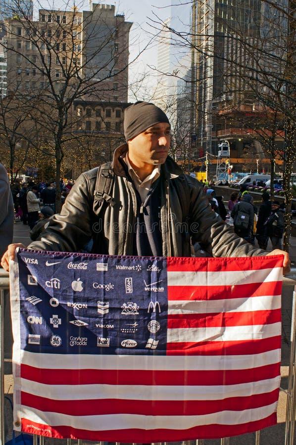 Protestador em Manhattan imagens de stock