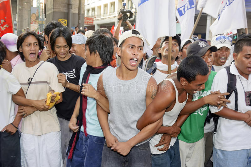 Protestadores fotografia de stock royalty free