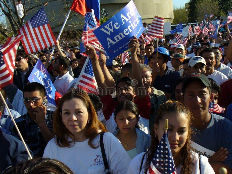 Protestadores da alameda imagem de stock