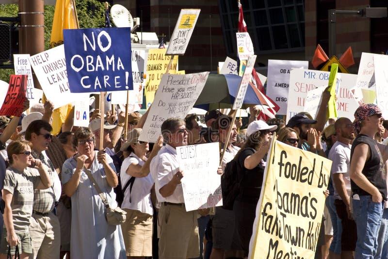 Protestadores dos cuidados médicos de Obama imagens de stock