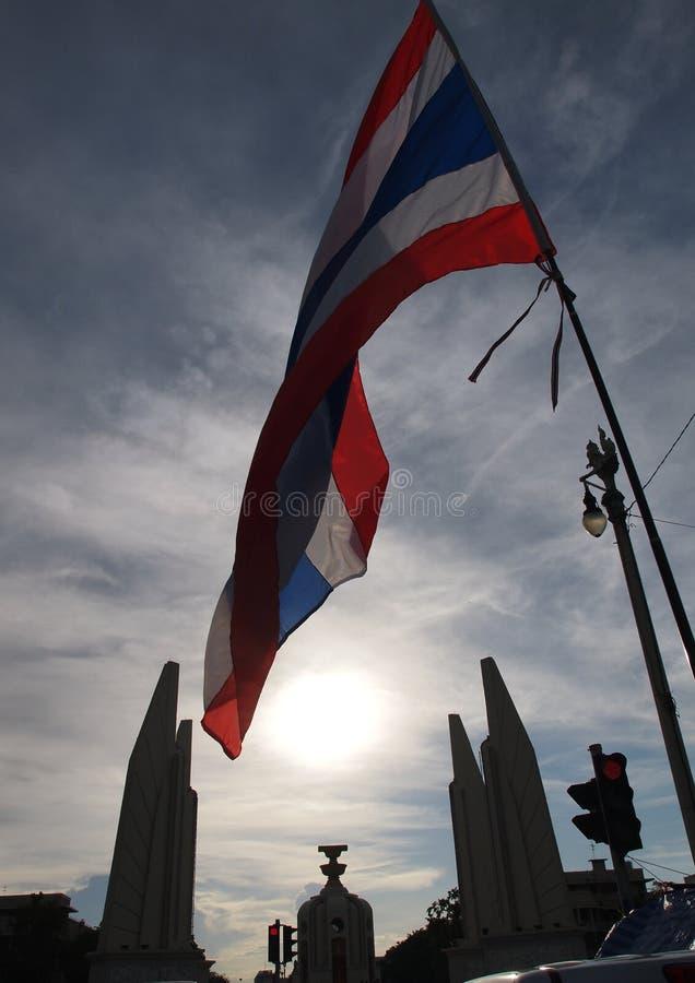 Protestadores tailandeses de PDRC fotos de stock royalty free