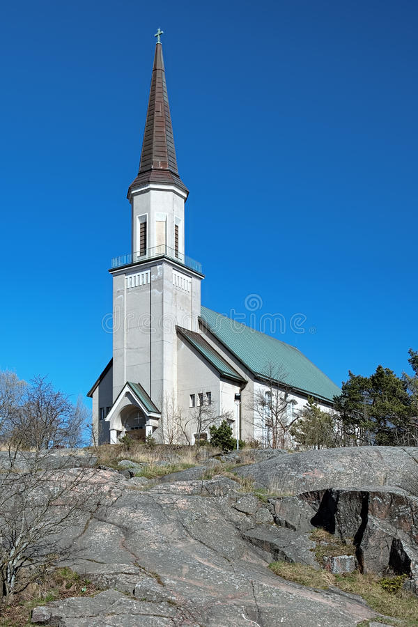 Free Protestant Church In Hanko, Finland Royalty Free Stock Photos - 24708728