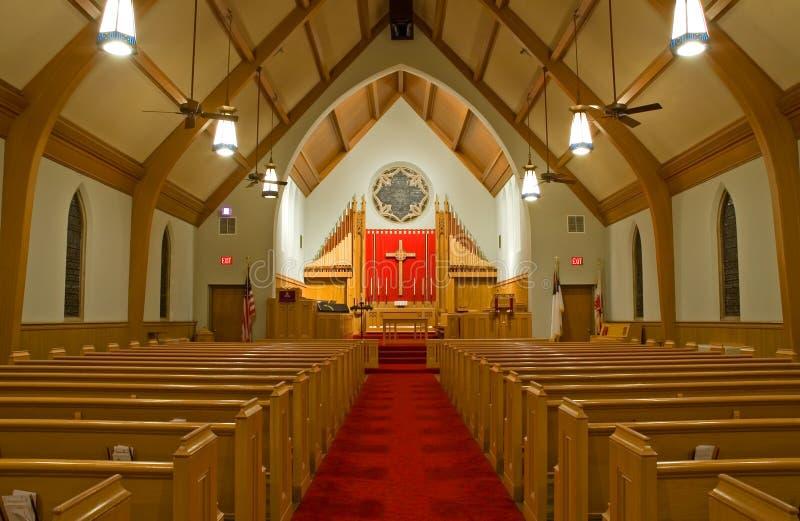 Protestant Church Sanctuary Stock Image