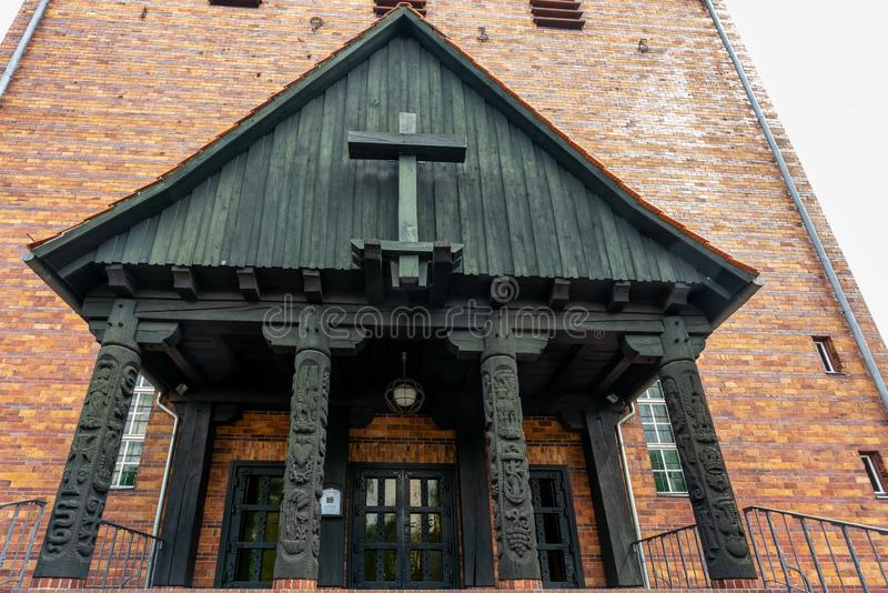 Protestant Johannes church in Berlin Frohnau Germany stock photos