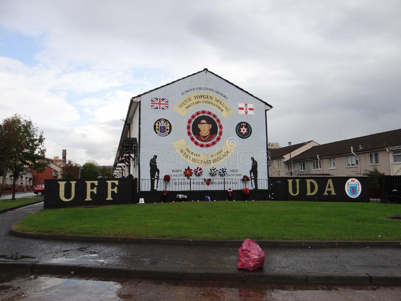 Protestant Wall in Belfast stock images