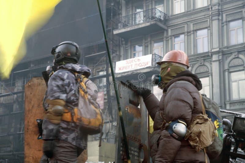 Protestanten Maidan-Rechtsektor stockfoto