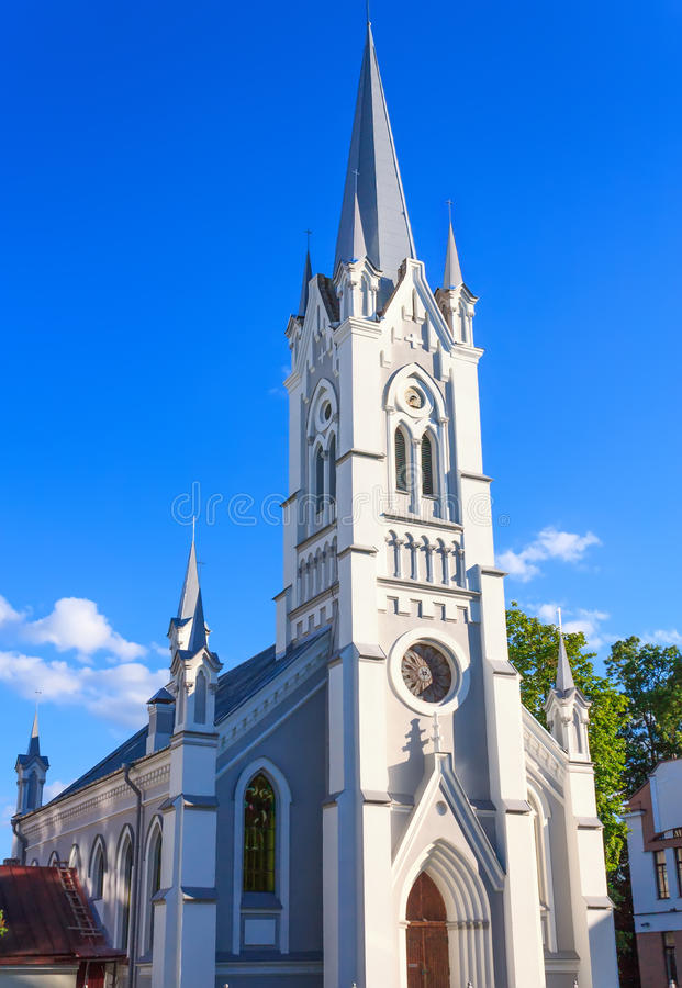 Protestantische Kirche in Grodno lizenzfreie stockfotografie