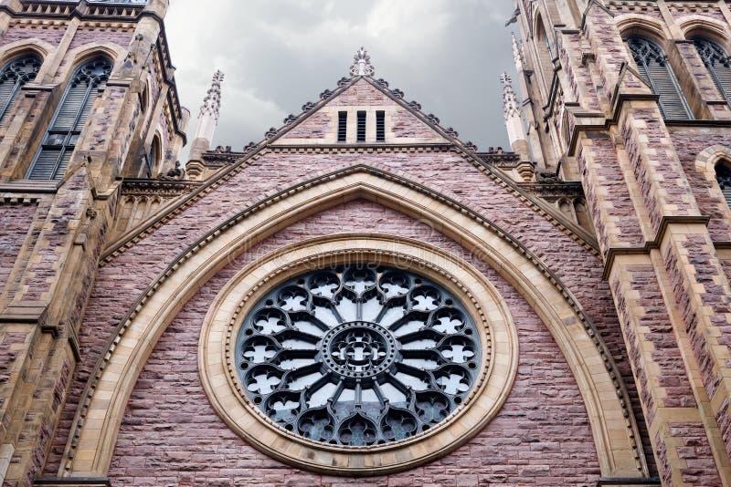 Protestantische Kirche St. James United in Montreal, Kanada stockbilder