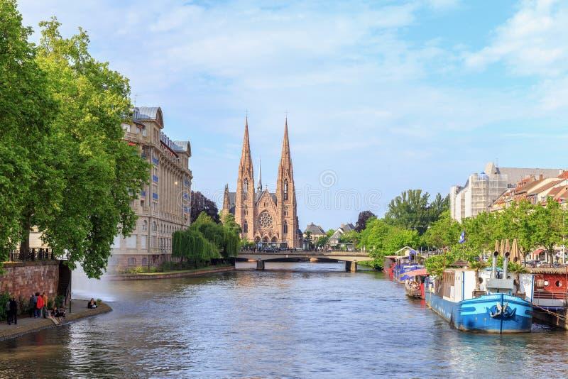 Protestantische Kirche Straßburg stockfotografie