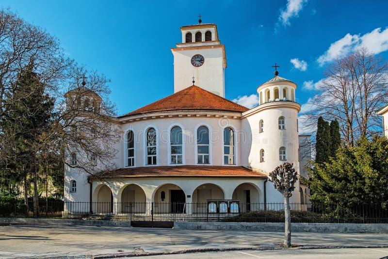 Protestantische Kirche in Trnava stockfotografie