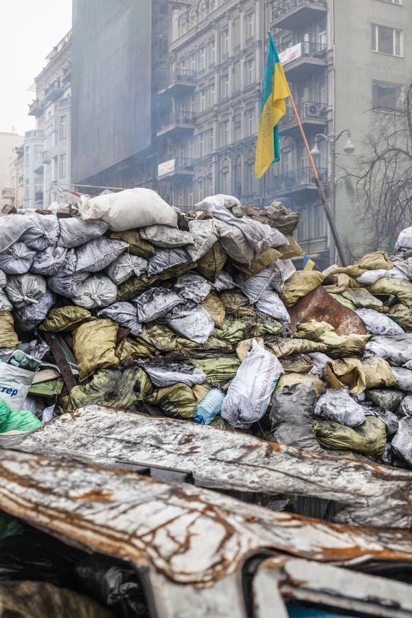 Protestas antigubernamentales en el centro de Kiev fotos de archivo