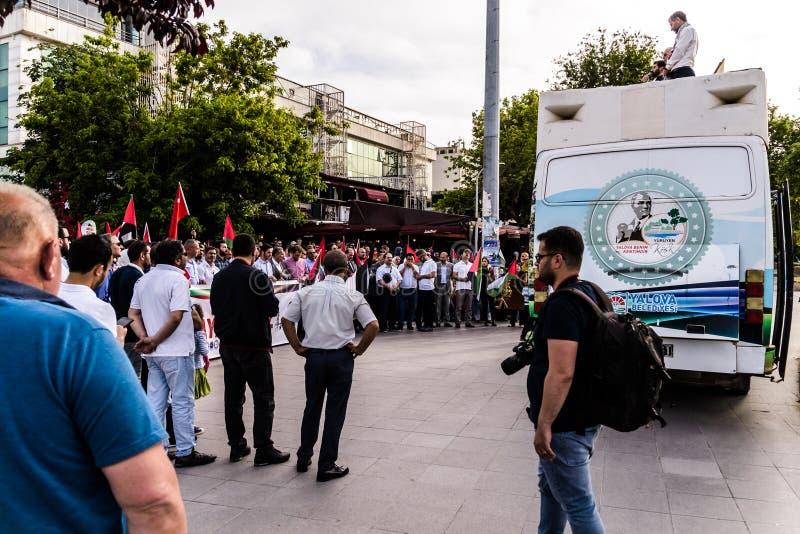 Protestas contra Israel Supporting Palestine In Turkey imagen de archivo