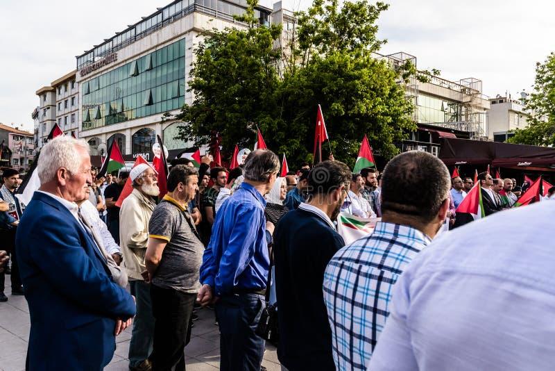 Protestas contra Israel Supporting Palestine In Turkey imagen de archivo libre de regalías