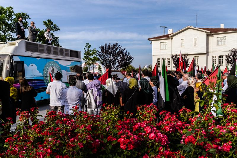 Protestas contra Israel Supporting Palestine In Turkey imagenes de archivo