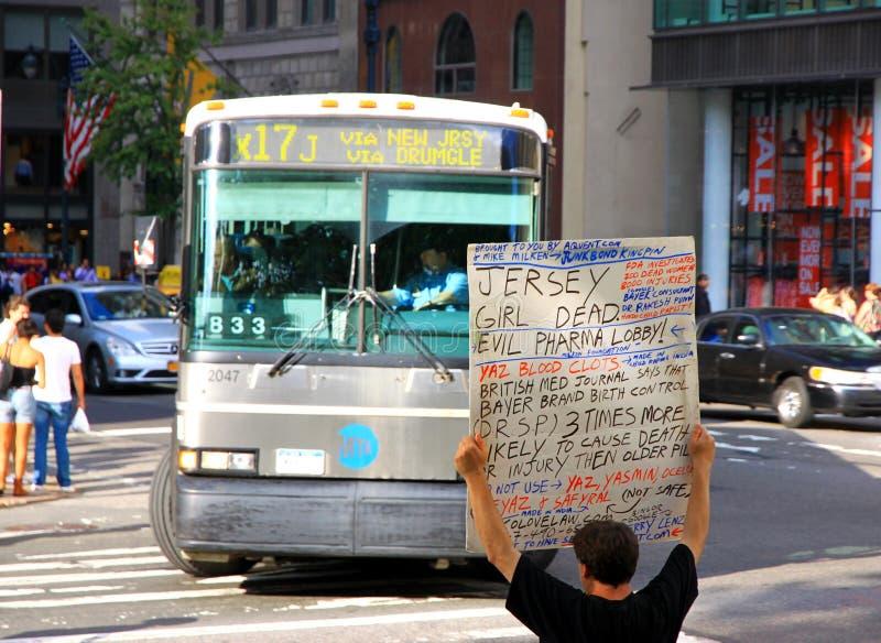 Protestas contra Pharmaceutical Corporation fotografía de archivo libre de regalías