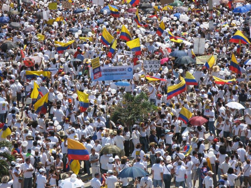 Protestas de Barranquilla fotografía de archivo