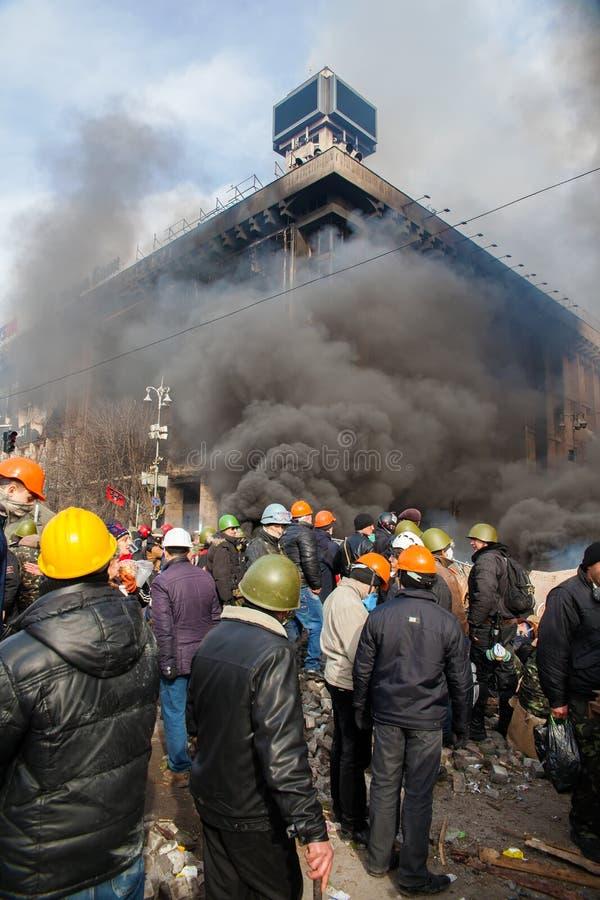 Protestas en Kiev fotografía de archivo