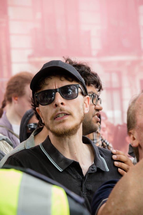 Protestas fascistas antis en Londres imagenes de archivo