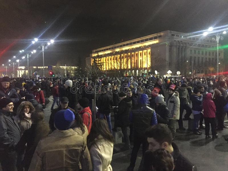 Protestas rumanas imágenes de archivo libres de regalías