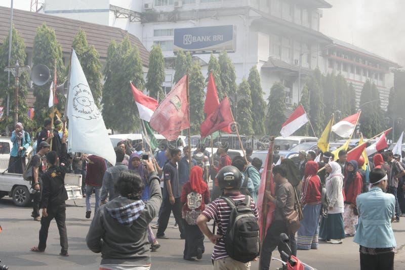 Protestas totales del estudiante imagenes de archivo