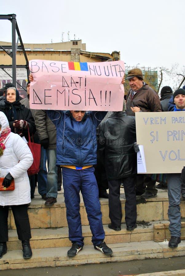 Protestataire à Bucarest image libre de droits