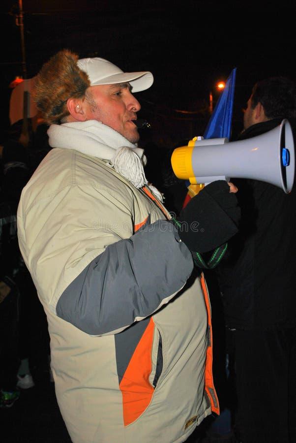Protestataire à Bucarest photo stock