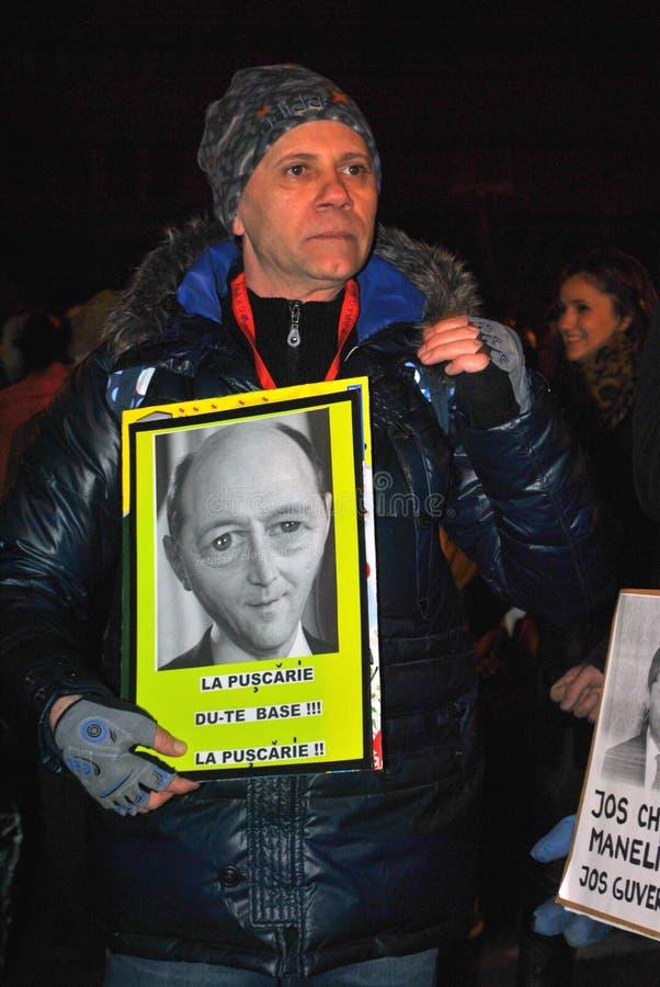 Protestataire à Bucarest photographie stock
