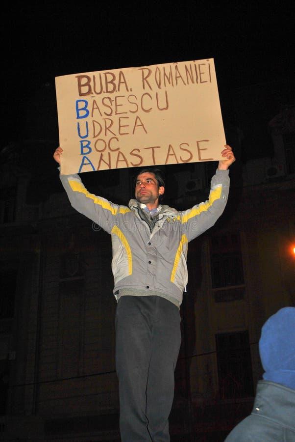 Protestataire à Bucarest image stock
