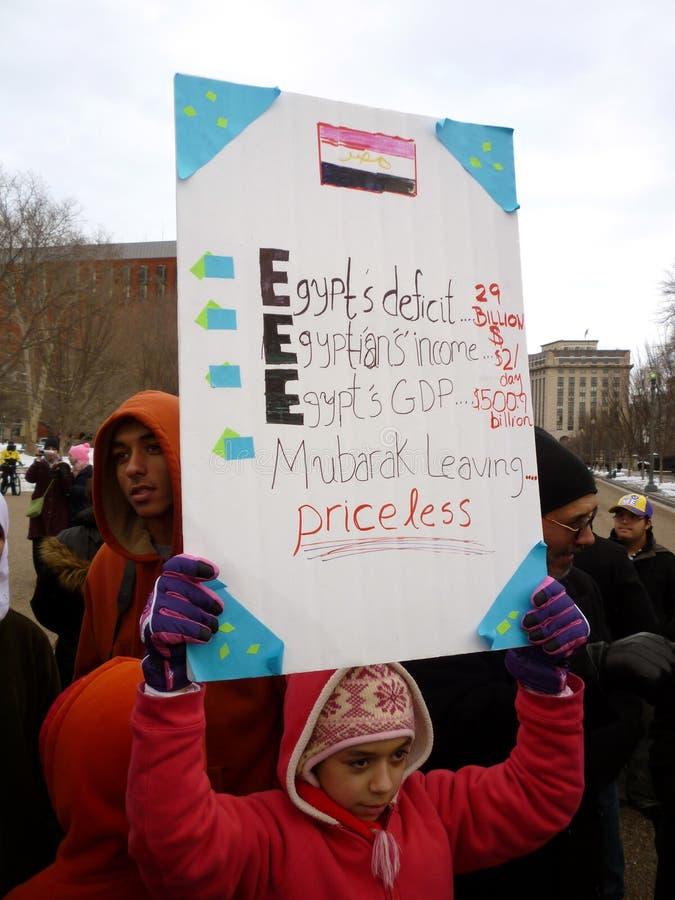 Protestataire d'enfant photo libre de droits
