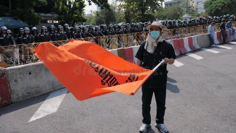Protestataire de Jaune-Chemise image libre de droits