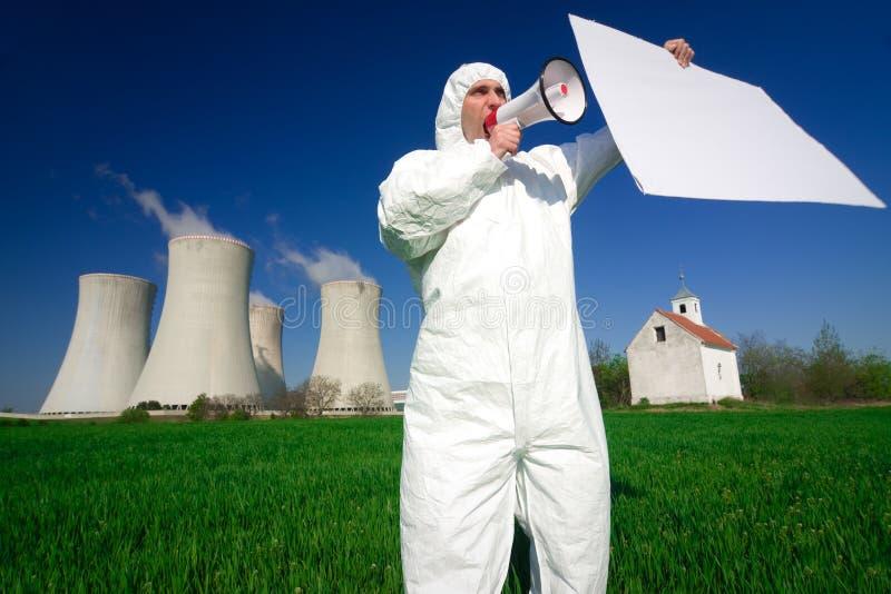 protestataire de pollution image stock