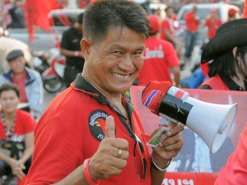 Protestataire de Rouge-Chemise photo stock
