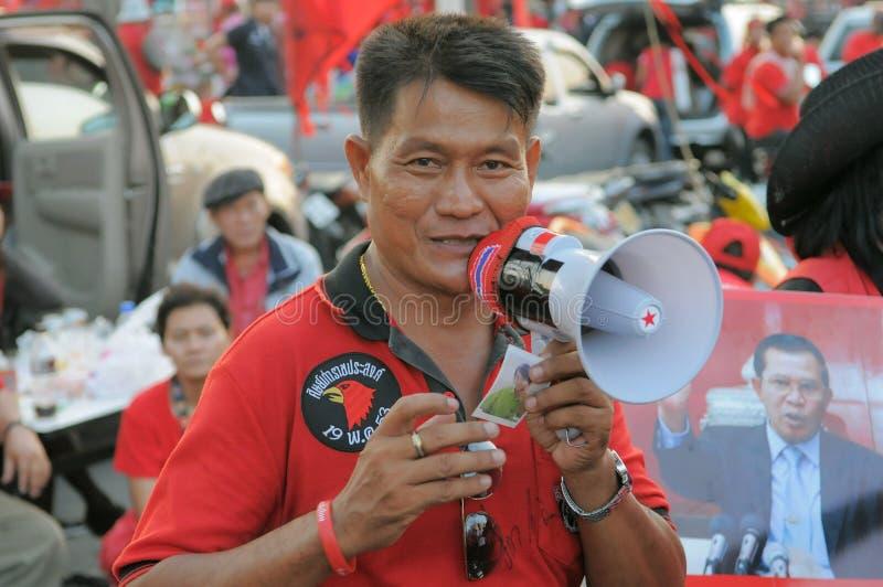 Protestataire de Rouge-Chemise image libre de droits