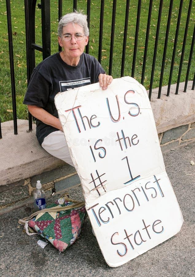 Protestataire de Washington DC image stock