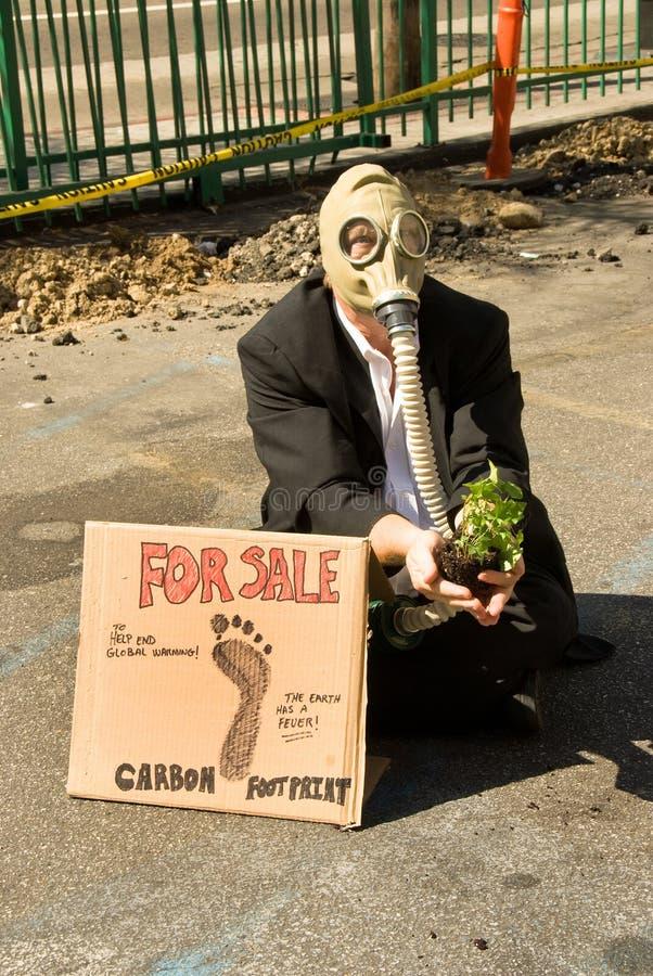Protestataire environnemental photo stock
