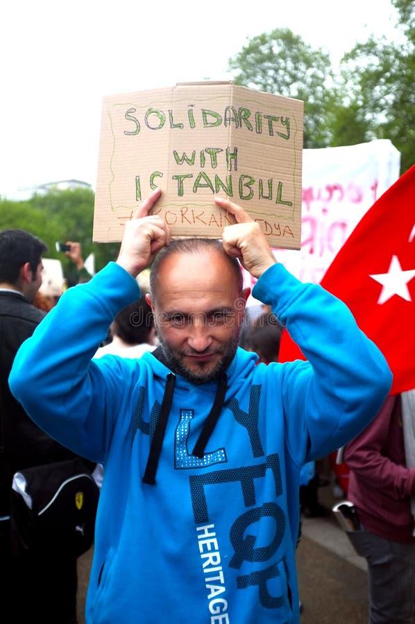 Protestataire turc images libres de droits