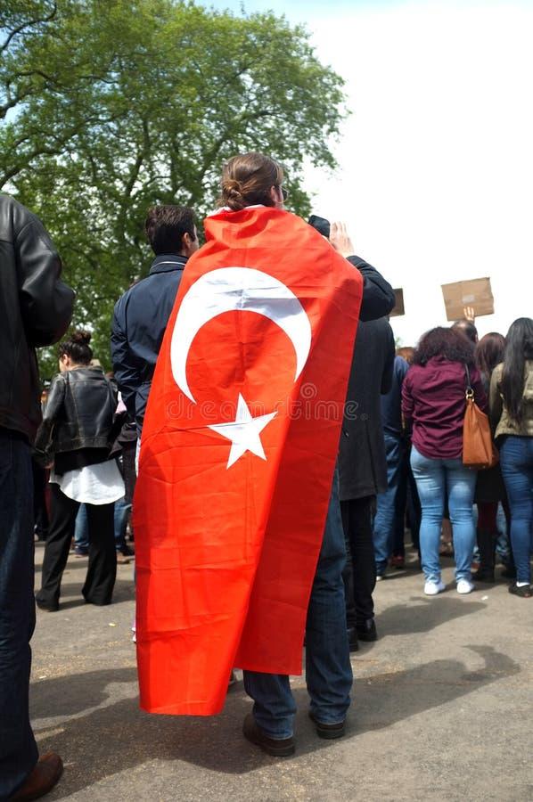 Protestataire turc image libre de droits